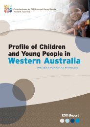 2011 Profile of Children and Young People in Western Australia