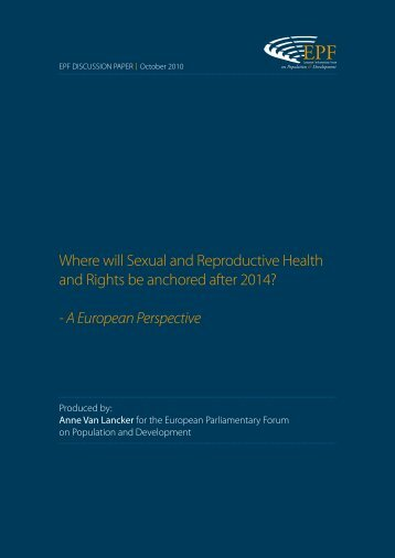 Where will Sexual and Reproductive Health and Rights be ... - EPF