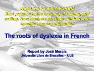 Professor José Morais - Dyslexia International
