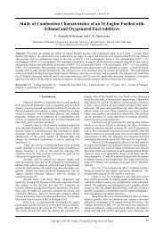 Study of Combustion Characteristics of an SI Engine fuelled with ...