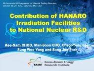 005 Contribution of HANARO Irradiation Facilities to National ...