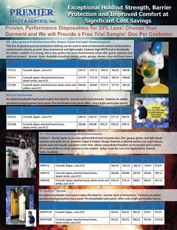 Premier Safety Disposable Flyer