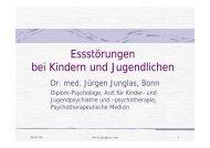 Essstörungen bei Kindern und Jugendlichen - Psychoforum.de