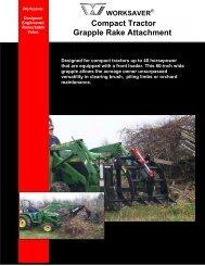 Compact Tractor Grapple Rake Attachment - Edney Distributing Co ...