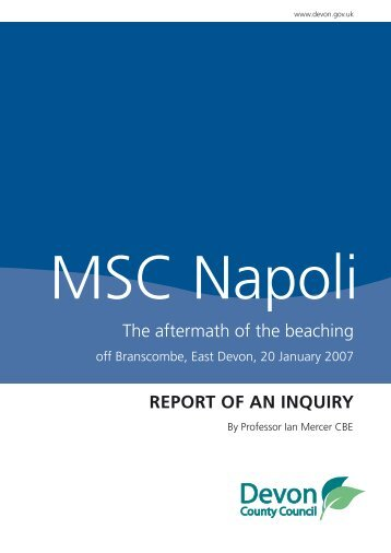 The aftermath of the beaching REPORT OF AN INQUIRY