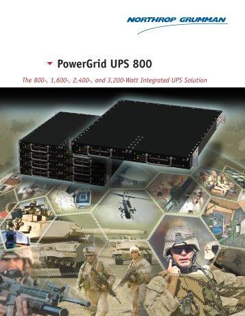 PowerGrid UPS 800 Data Sheet - Northrop Grumman Corporation