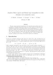 Analytic Besov spaces and Hardy-type inequalities in tube ... - TARA