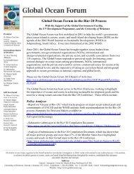 List of Global Ocean Forum Activities in the Rio+20 Process