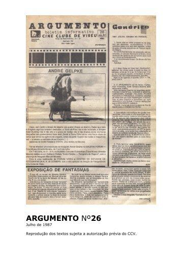 Argumento nº26 - Cine Clube de Viseu