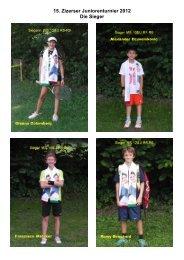 15. Zizerser Juniorenturnier 2012 Die Sieger