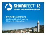 IPv6 Address Planning - Sharkfest - Wireshark