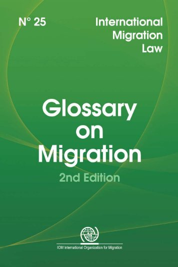 Glossary on Migration