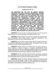CITY OF BONITA SPRINGS, FLORIDA Ordinance No. 05- 16 AN ...