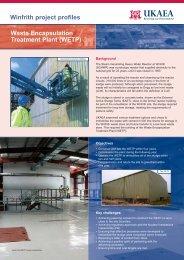 Waste Encapsulation Treatment Plant (WETP) - Research Sites ...