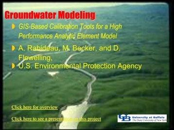 A High Performance Analytic Element Model - NCGIA Buffalo