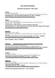 HSP-SPRECHSTUNDEN aktuelles Verzeichnis März 2012