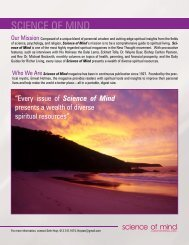 SCIENCE OF MIND - Centers for Spiritual Living