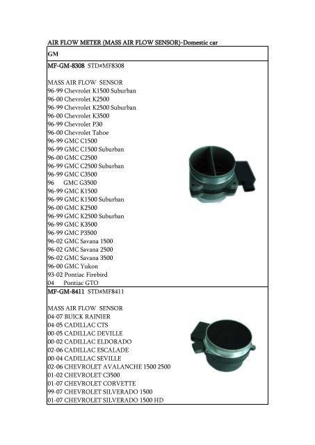 MASS AIR FLOW  SENSOR-5 prong 97-99 TOYOTA TACOMA 2.4L.2.7L