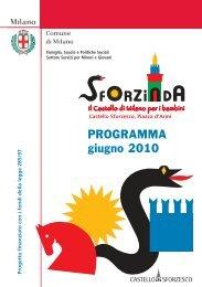 Calendario Giugno 2010 - Castello Sforzesco