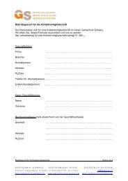 Anmeldeformular für die Kollektivmitgliedschaft - SGBF-SSMSR