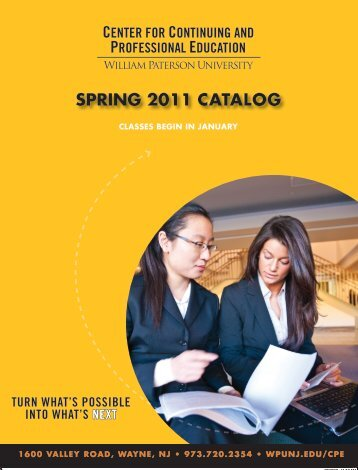 SpRing 2011 catalog - William Paterson University