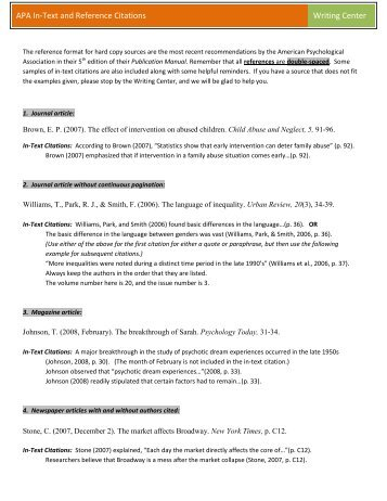 Essay writing citing references