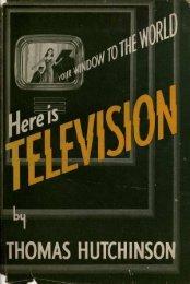 THOMAS HUTCHINSO - Early Television Foundation