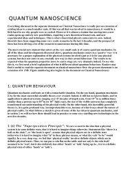Quantum nanoscience