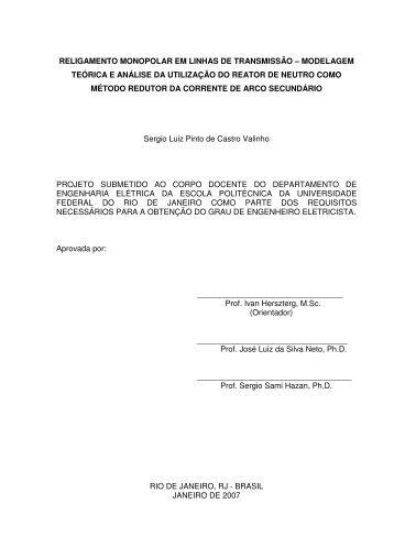 religamento monopolar em linhas de transmissão - Poli Monografias