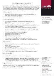 Der Deutsche Levante Verlag vergibt ab sofort Praktika - Zenith