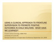 using a clinical approach to frontline supervision to promote positive ...