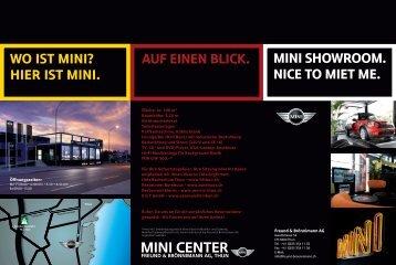 mini center mini center auf einen blick. - Freund und Brönnimann AG