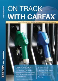 February 2013 - CARFAX Banking & Insurance Group