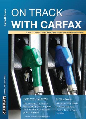 February 2013 - CARFAX Banking & Insurance Group