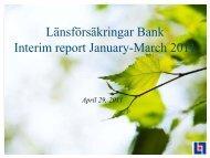 March 31, 2011 - Länsförsäkringar