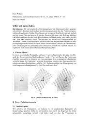 Gitter und ganze Zahlen - Hans & Meta Walser