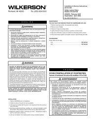 629-5000 FICHE D'INSTALLATION ET D'ENTRETIEN