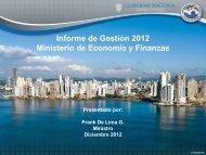 Informe de Gestion 2012 - Ministerio de Economía y Finanzas