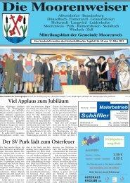 Mitteilungsblatt vom 12. März 2013 6.15 MB - Gemeinde Moorenweis