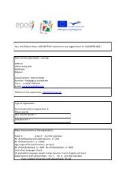 Yes, we'd like to host a GRUNDTVIG-assistant from FLANDERS (BE)