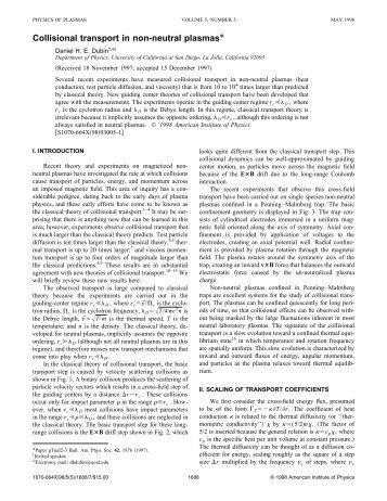 Collisional transport in non-neutral plasmas*