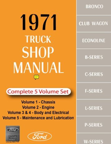 DEMO - 1971 Ford Truck Shop Manual - ForelPublishing.com