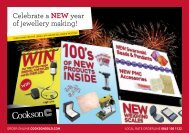 Celebrate a NEW year of jewellery making! - Cookson Precious Metals