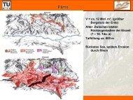 V = ca. 12 Mrd. m³, (größter Bergsturz der Erde) Alter: Zwischen ...