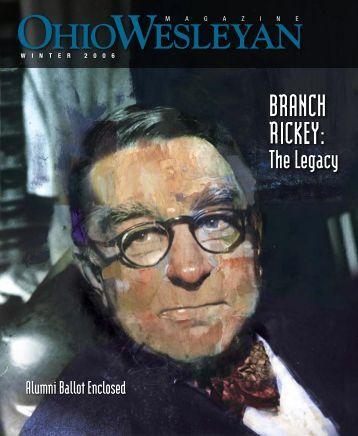 Ohio Wesleyan Magazine - Ohio Wesleyan University