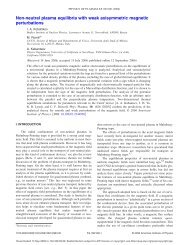 Non-neutral plasma equilibria with weak axisymmetric magnetic ...