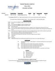 emmetsburg campus fall 2012 course listing - Iowa Lakes ...