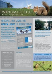 WINDMILL HILL GIVES THE GREEN LIGHT TO GREEN TRAVEL