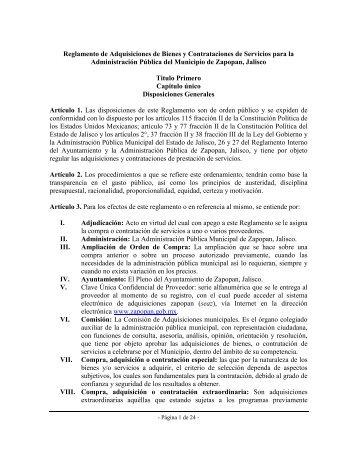 Reglamento de Adquisiciones de Bienes y Contrataciones de ...