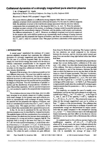 Collisional Dynamics of a Strongly Magnetized Pure Electron Plasma